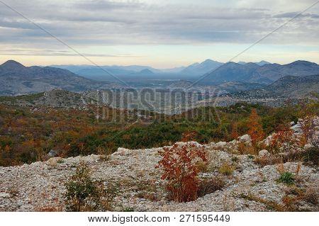 Cloudy Autumn Day In The Mountains. Dinaric Alps,  Bosnia And Herzegovina, Republika Srpska