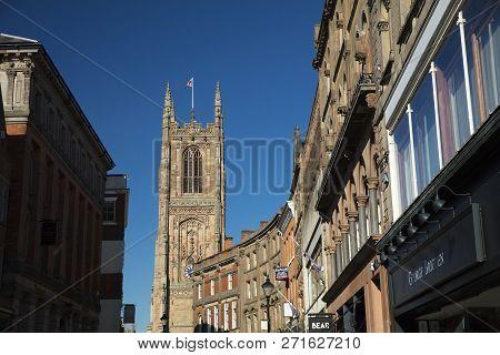 Derby, Derbyshire, Uk: October 2018: Derby Cathedral Of All Saints