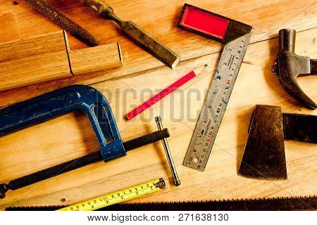 Machinist Square , Wood Pencil, Hammer, Saw, Clamp, Chisel, Vise, Tape Measure, File  For Carpenter
