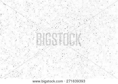 Black Paint Spray Vector Texture. Subtle Splatter Pattern Isolated On White Background.