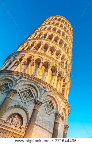 The Leaning Tower Of Pisa Is One Of The Main Landmark Of Italy