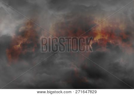 Abstract Smoke With Fire As Texture And Background