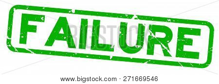 Grunge Green Failure Word Square Rubber Seal Stamp On White Background