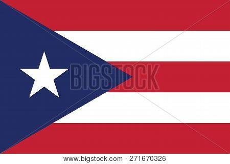 Vector Image For Puerto Rico Flag. Based On The Official And Exact Puerto Rican Flag Dimensions (3:2