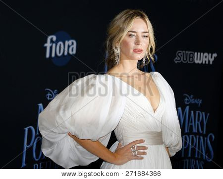 Emily Blunt at the World premiere of Disney's 'Mary Poppins Returns' held at the Dolby Theatre in Hollywood, USA on November 29, 2018.