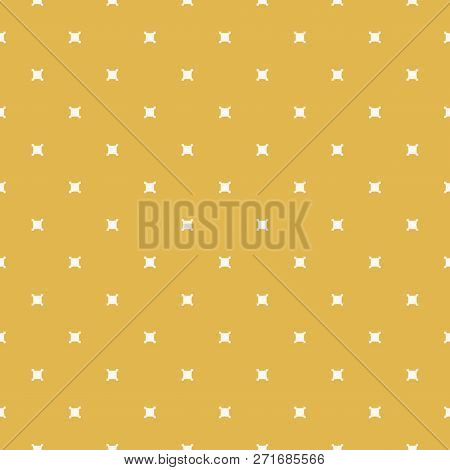 Minimalist Geometric Seamless Pattern. Yellow Mustard Color. Autumn Background. Simple Vector Abstra