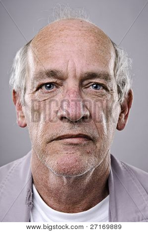 Old man, detailed portrait, lots of wrinkles poster