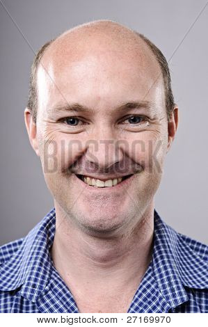 Highly detailed fine art portrait. smiling happy real person