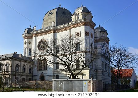 Synagogue In Gyor, Hungary. Religious Architectural Theme.