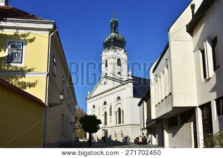 Basilica Of The Assumption Of The Virgin Mary In Gyor,hungary