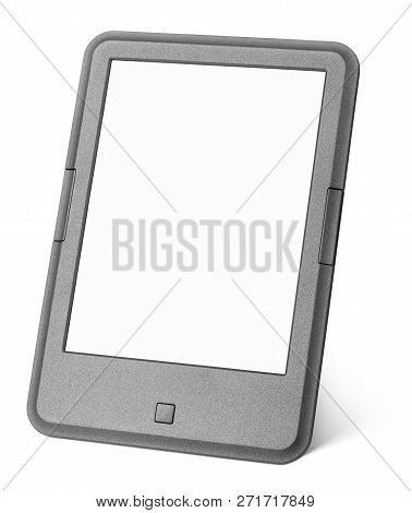 Portable E-book Reader Isolated On White Background With Clipping Path