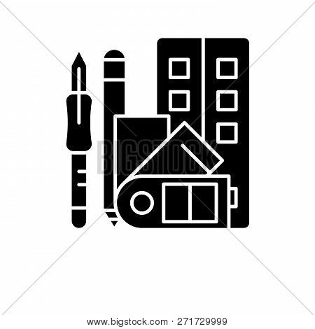 Art Skills Black Icon, Vector Sign On Isolated Background. Art Skills Concept Symbol, Illustration