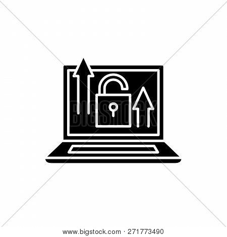 Growth Opportunities Black Icon, Vector Sign On Isolated Background. Growth Opportunities Concept Sy