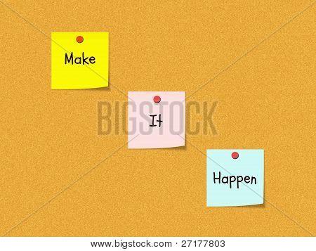 Make It Happen Bulletin Board