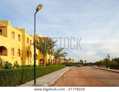 calle en El-Gouna, Egipto
