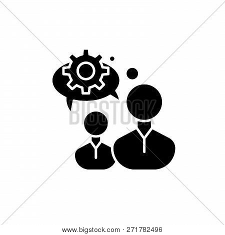 Engineering Thinking Black Icon, Vector Sign On Isolated Background. Engineering Thinking Concept Sy
