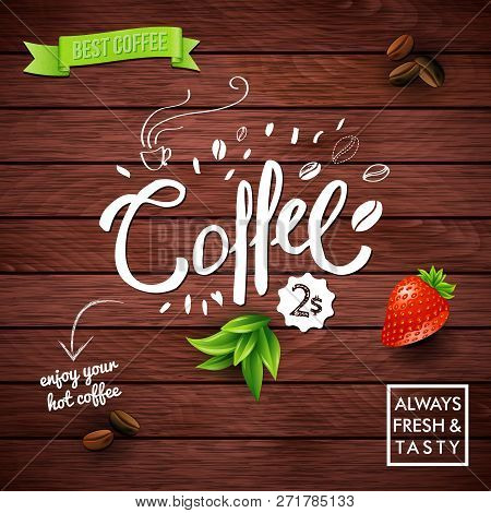 Rustic Best Offer Coffee Poster On Wood