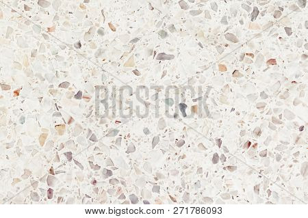 Terrazzo Flooring Or Marble Old. Polished Stone Texture Beautiful For Background Pattern Wall And Co