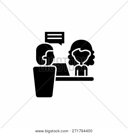 Directors Orders Black Icon, Vector Sign On Isolated Background. Directors Orders Concept Symbol, Il