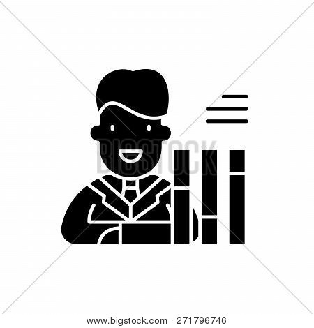 Personnel Scorecard Black Icon, Vector Sign On Isolated Background. Personnel Scorecard Concept Symb