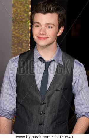 HOLLYWOOD, CA - DECEMBER 5: Actor Chris Colfer arrives at the premiere of