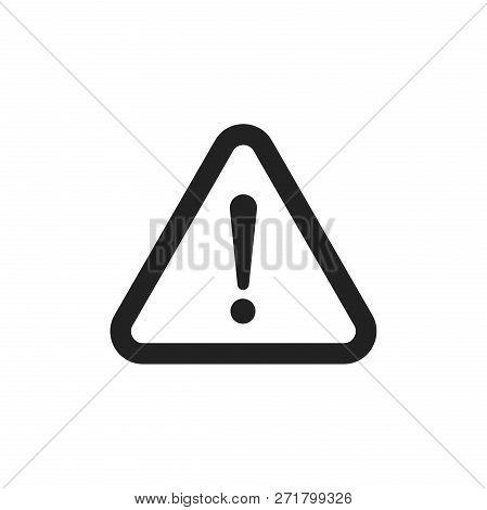 Danger Sign Vector Icon. Attention Caution Illustration. Busines