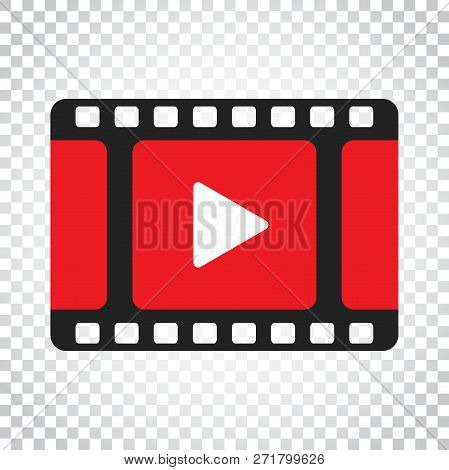 Play Icon Vector. Play Video Illustration In Flat Style. Busines