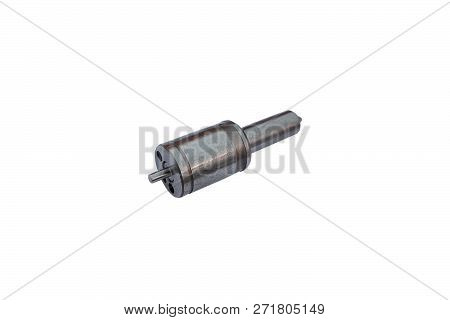 Fuel injector into the combustion chamber of the engine. Car plunger of the fuel pump of the diesel engine. poster