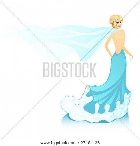 beautiful blond girl with shawl