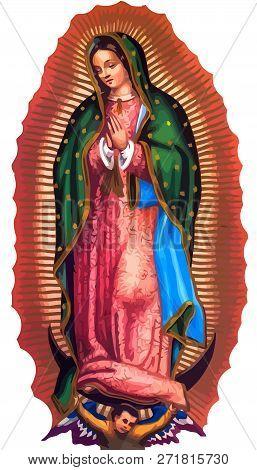 Lady Of Guadalupe Mexico Saint Holy Faith Illustration