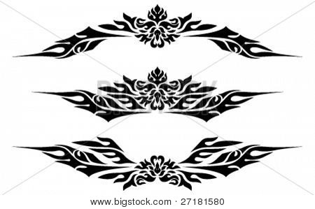 vector set of ornate symbols