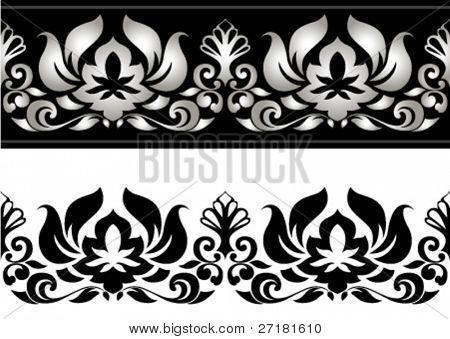 vector illustration of floral border