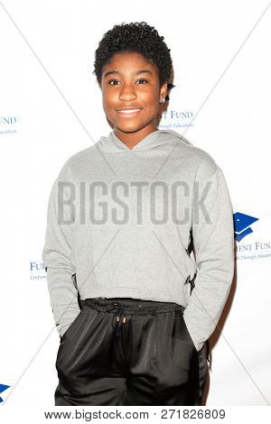 LOS ANGELES - DEC 1: Lyric Ross at the Fulfillment Fund's 45th Annual Holiday Party for kids at CBS Television City on December 1, 2017 in Los Angeles, California