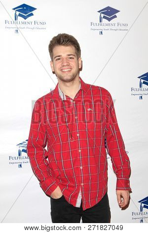 LOS ANGELES - DEC 1: Brandon Tyler Russell at the Fulfillment Fund's 45th Annual Holiday Party for kids at CBS Television City on December 1, 2017 in Los Angeles, California