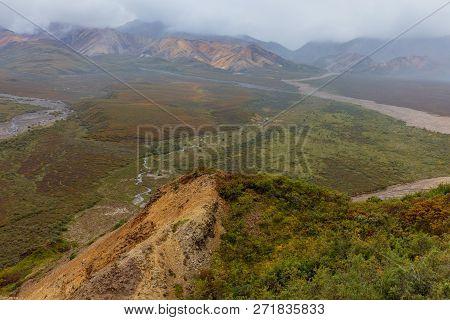 The Scenic Landscape Of Denali National Park Alaska