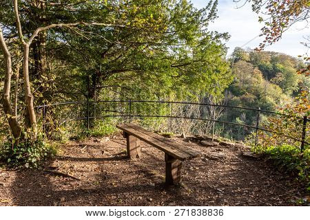 A Bench In The Grounds Of Blaise Castle In Bristol. Blaise Castle Near Henbury Is In An Historic Est