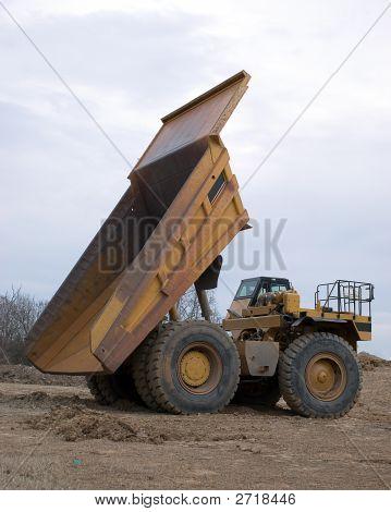 Vertical Shot Of Dump Truck