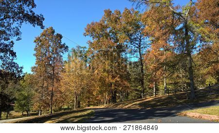 A Crisp, Clear Autumn Afternoon In Rural Kentucky.