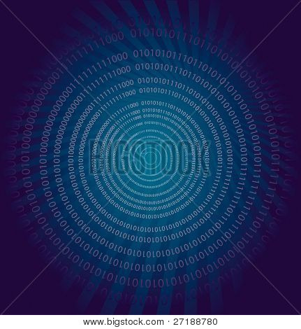 Vector background with binary data