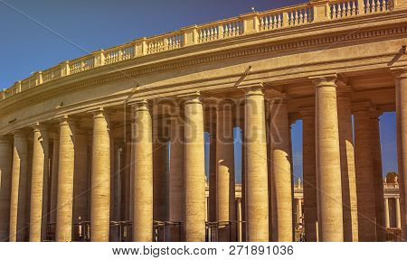 The St. Peters Basilica Is Seen At St. Peters Square In Vatican City, Vatican