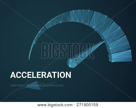 Abstract Modern Business Background Vector Depicting Acceleration With Stars And Lines In Shape Of A