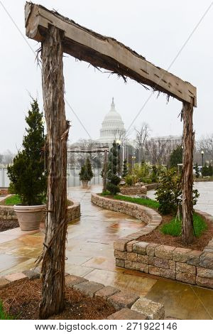 United States Capitol as seen from the Botanic garden - Washington DC United States of America