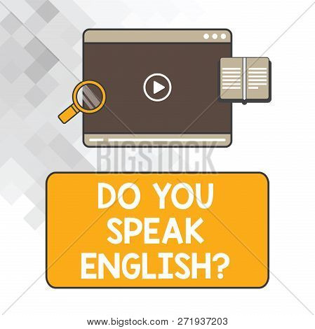 Writing Note Showing Do You Speak Englishquestion. Business Photo Showcasing Speaking Learning Diffe