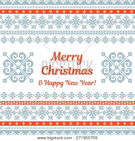 Merry Christmas Knitted Background