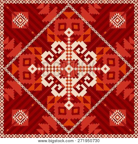 Snowflake Ornament In Ethnic Style