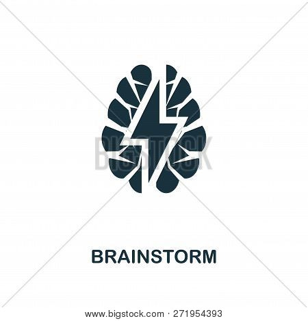 Brainstorm Icon. Premium Style Design From Teamwork Icon Collection. Ui And Ux. Pixel Perfect Brains