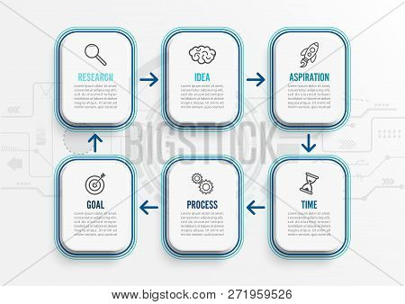 Vector Infographic Template With Icons And 6 Options Or Steps. Infographics For Business Concept. Ca