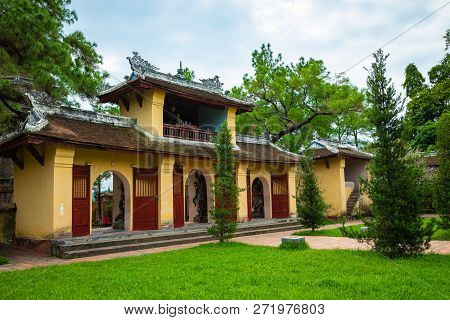 The Thien Mu Pagoda Is One Of The Ancient Pagoda In Hue City. Vietnam.