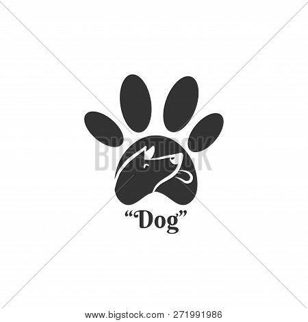 Dog Head Paw Icon Vector Photo Free Trial Bigstock