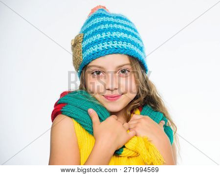 Which Fabrics Will Keep You Warmest This Winter. Hat And Scarf Keep Warm. Kid Wear Warm Soft Knitted